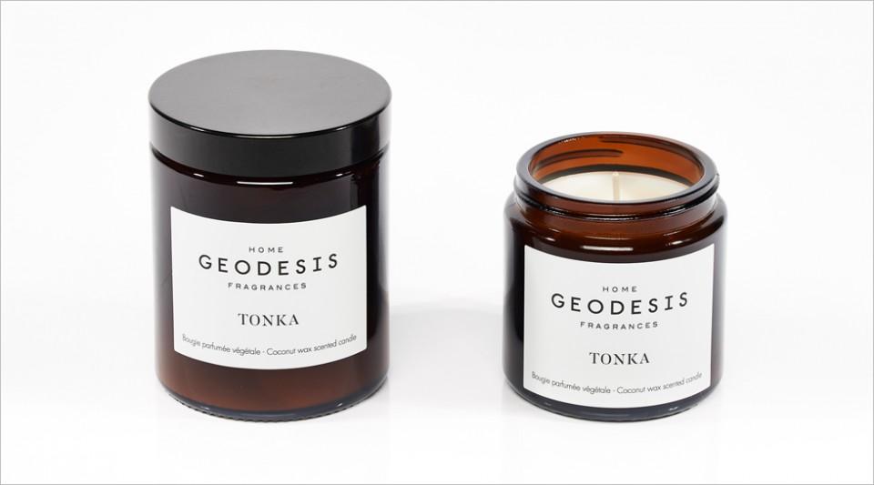 Bougie parfumée végétale Tonka