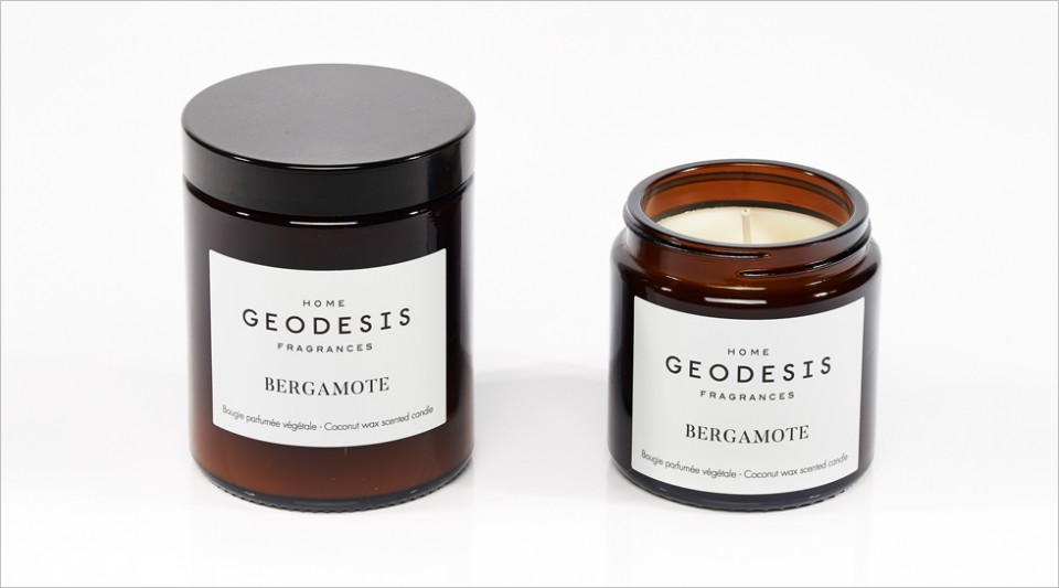 Bergamot vegetable scented candle