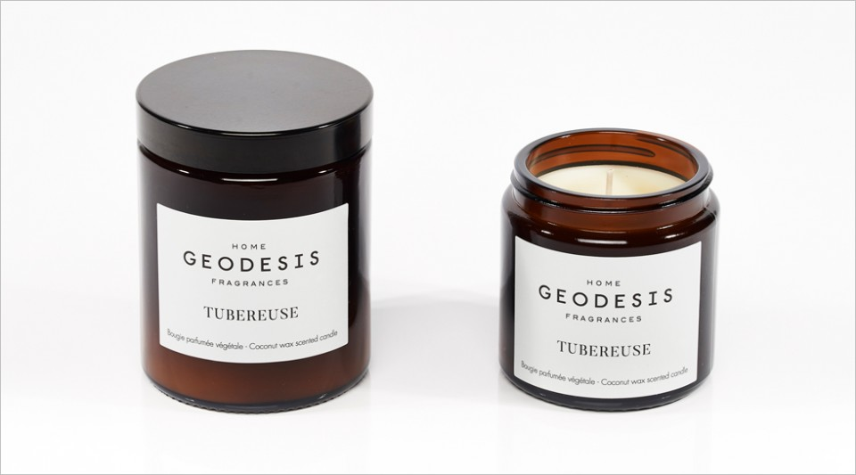 Tuberose vegetable scented candle