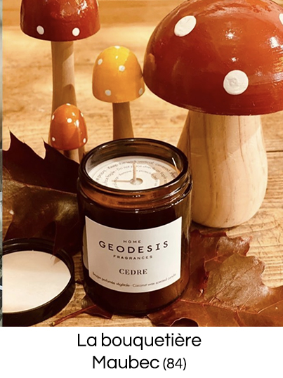 Bougie parfumée naturelle made in France